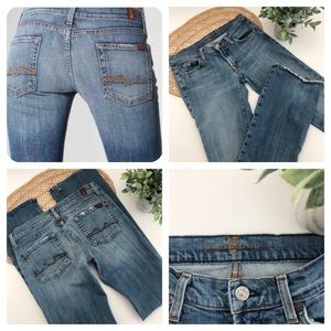 7 For All Mankind Long Legs Boot Cut Jeans Size 27